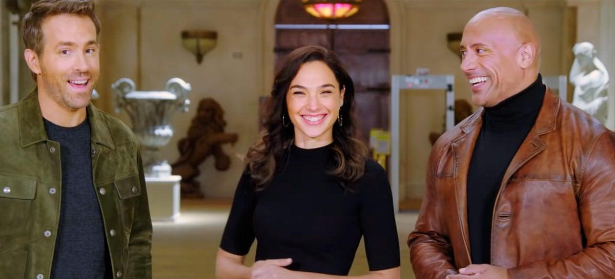 Netflix faz prévia de seus filmes para 2021 com The Rock, Gal Gadot e vários famosos