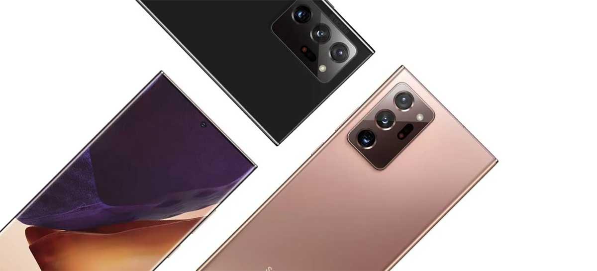 Versão americana dos Galaxy Note 20 e Note 20 Ultra não tem fone de ouvido