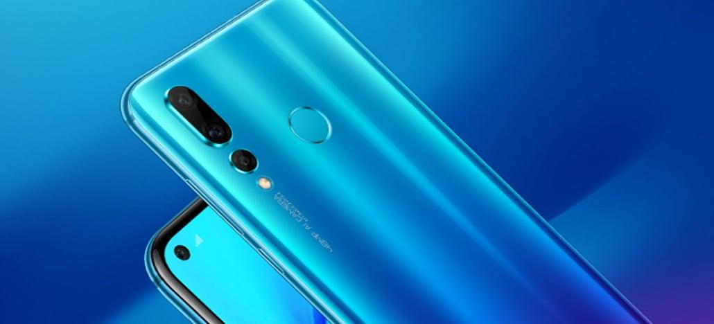 Huawei lança nova 4 com câmera selfie in-display de 25MP e câmera traseira com 48MP