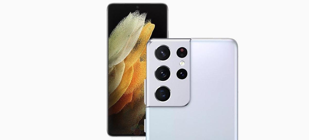 Imagens oficiais de modelos Samsung Galaxy S21 confirmam cores