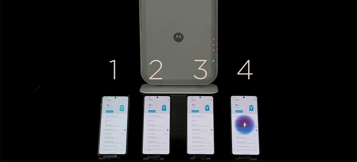 Novo carregador sem fio da Motorola recarrega baterias a 3 metros de distância
