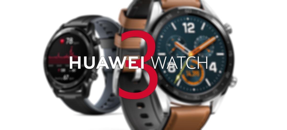 Huawei Watch 3 deve ser lançado em breve com novo HarmonyOS