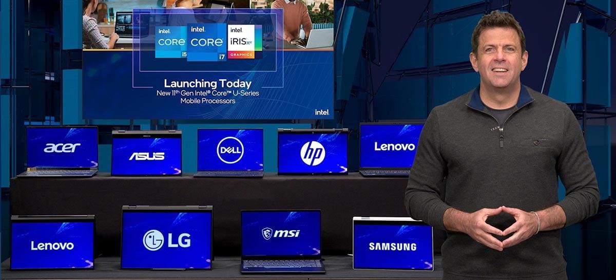 Novos CPUs Intel de 11ª geração Core alcançam 5GHz em Ultrabooks