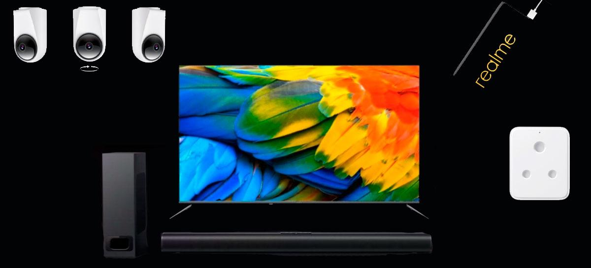 Realme anuncia primeira Smart TV SLED 4K do mundo e outros gadgets
