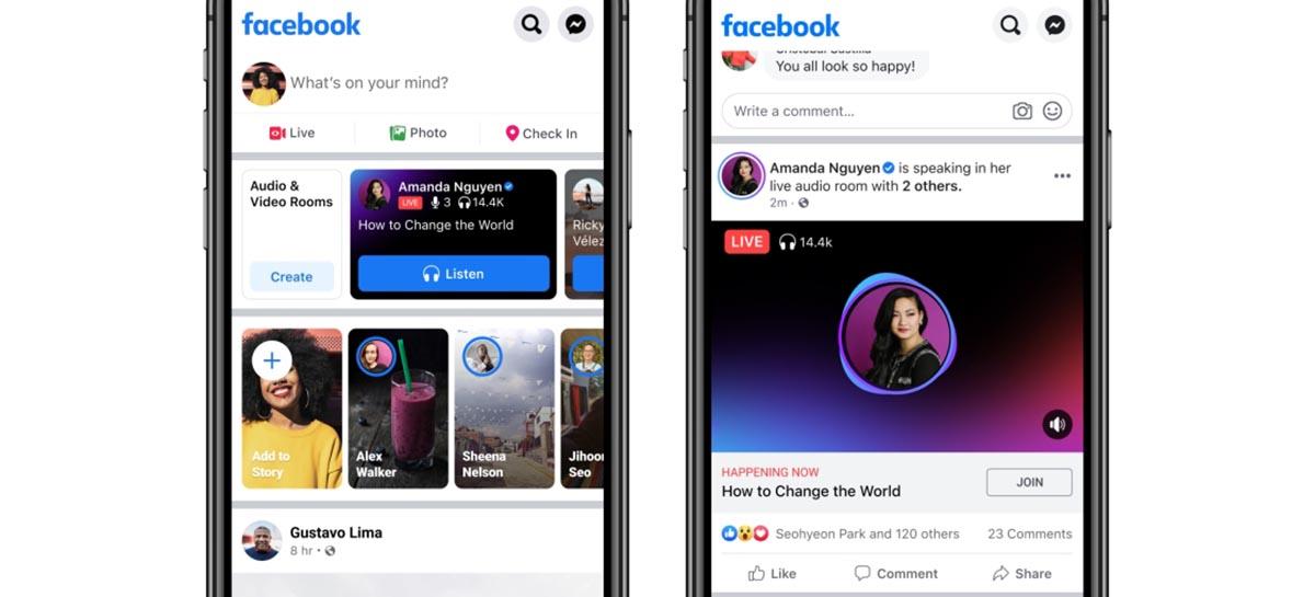 Facebook ganha espaço de áudio com foco em podcasts e lives