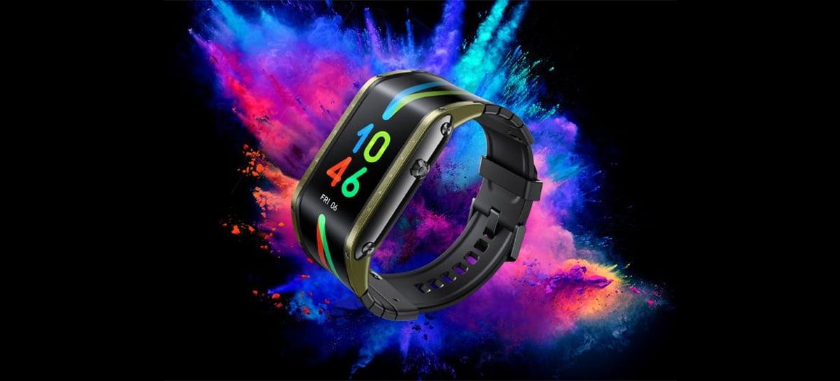Smartwatch Nubia Watch traz tela AMOLED flexível de 4,01 polegadas e suporte para eSIM