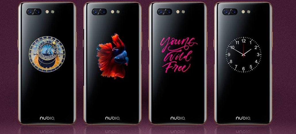 Nubia X chega ao mercado com duas telas, sem câmera frontal e duplo sensor de digitais