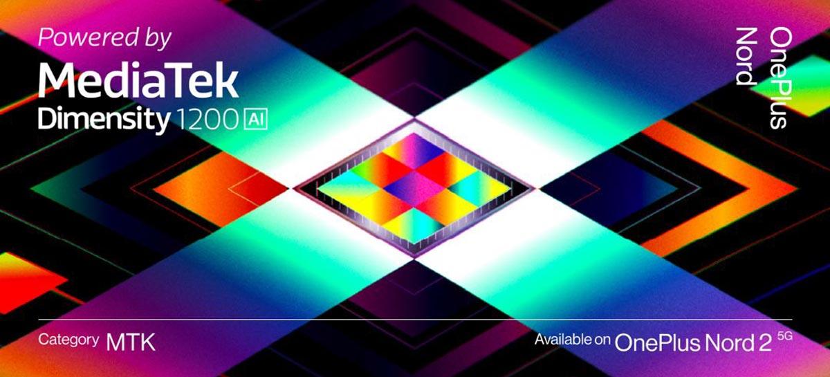 OnePlus confirmou que o Nord 2 5G virá com processador Dimensity 1200-AI