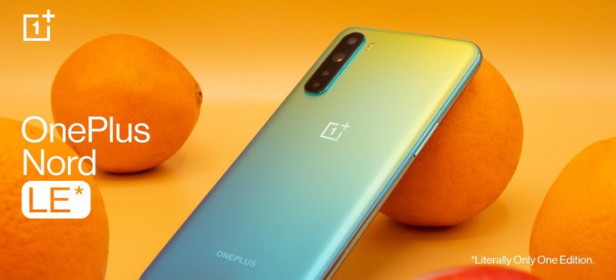 OnePlus Nord LE é anunciado - celular terá apenas uma unidade fabricada