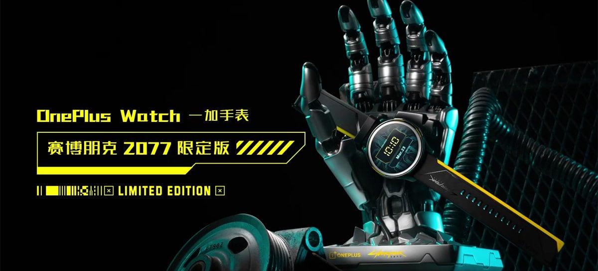 Versão Cyberpunk 2077 do OnePlus Watch chega em 27 de maio