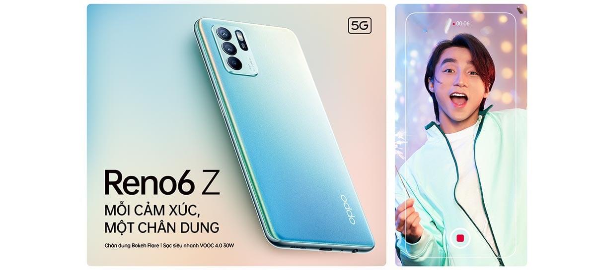 OPPO anuncia o Reno 6Z 5G com chipset Dimensity 800U e câmera de 64 MP