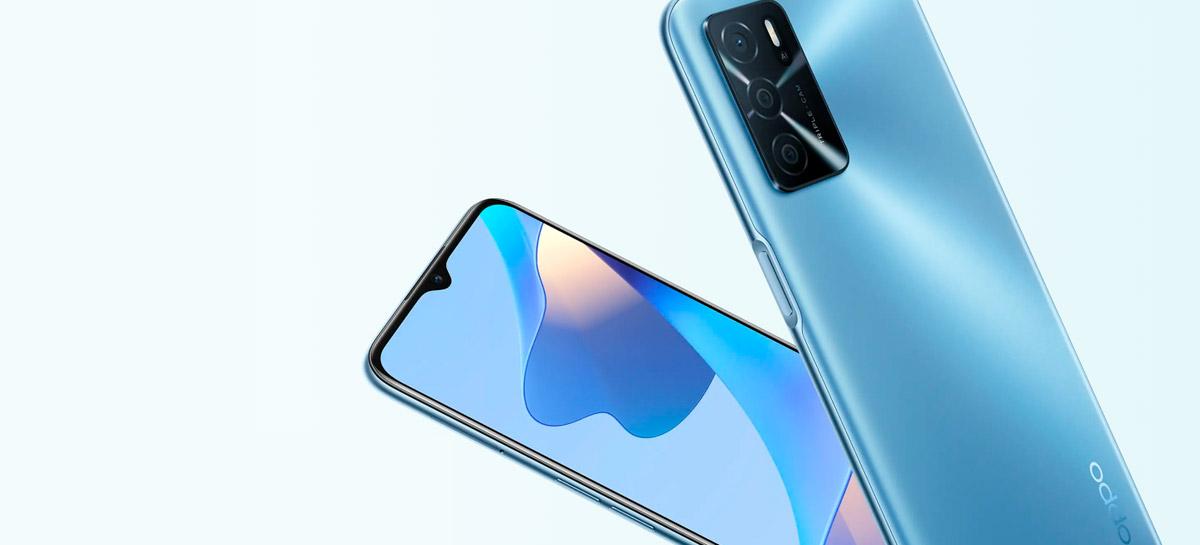 """Oppo anuncia smartphone A16S com Helio G35, tela de 6,52"""" e 5,000 mAh de bateria"""