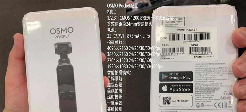Especificações e novas fotos do DJI Osmo Pocket surgem na internet