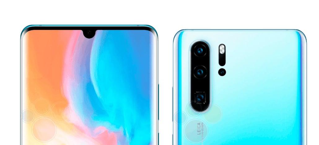 Vazam imagens do design do Huawei P30 e P30 Pro mostrando as três câmeras traseiras