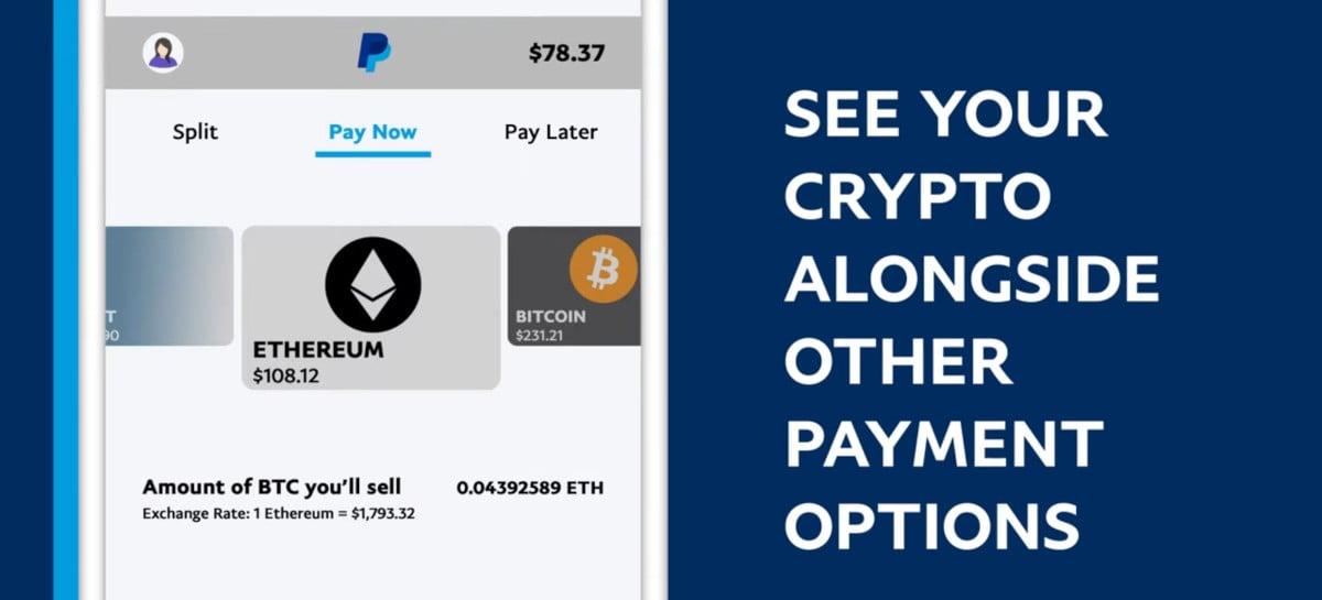 PayPal libera checkout com criptomoedas