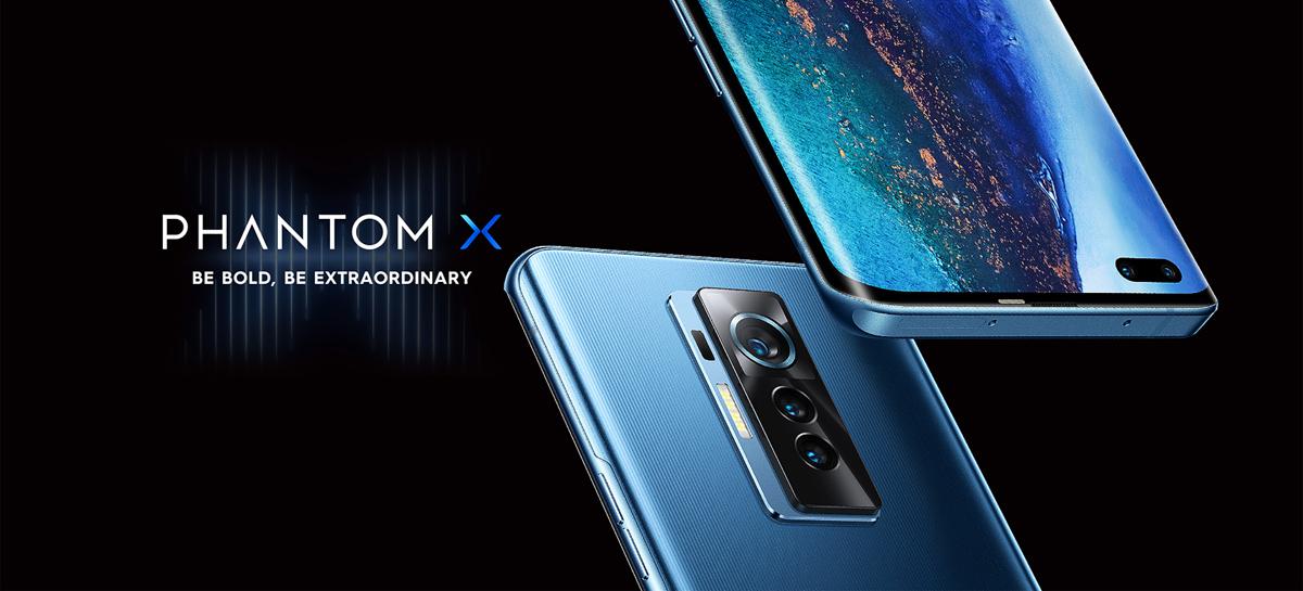 Smartphone Phantom X da TECNO Mobile traz tela de 90Hz e duas câmeras frontais