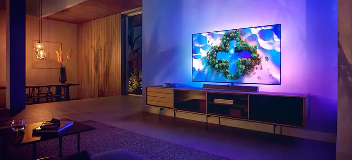 Philips lança novas TVs da linha OLED+936 com foco em gamers
