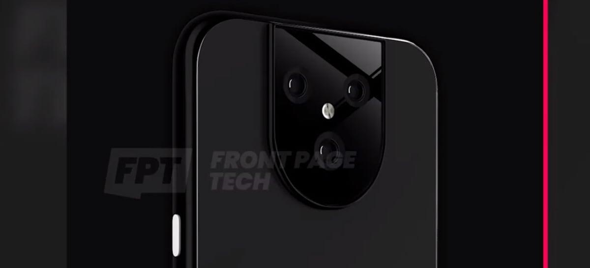 Rendered image shows possible Google Pixel 5 XL design