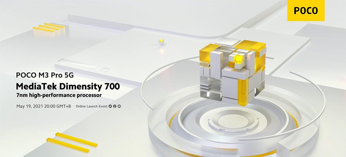 Poco M3 Pro 5G vai vir com um MediaTek Dimensity 700, fabricante confirma