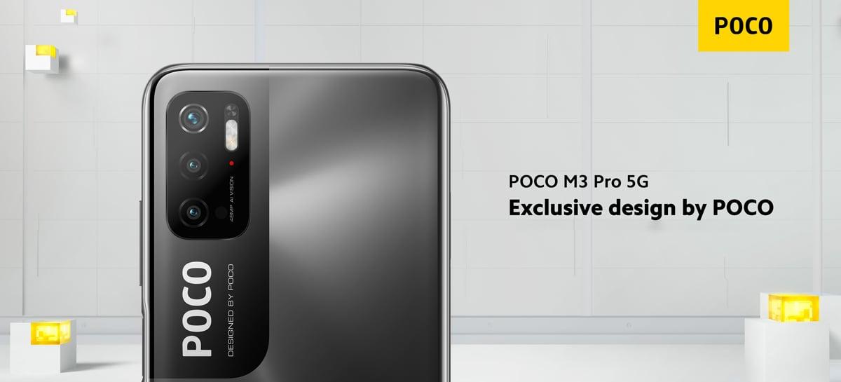 POCO revela design do POCO M3 Pro 5G e confirma câmera de 48MP