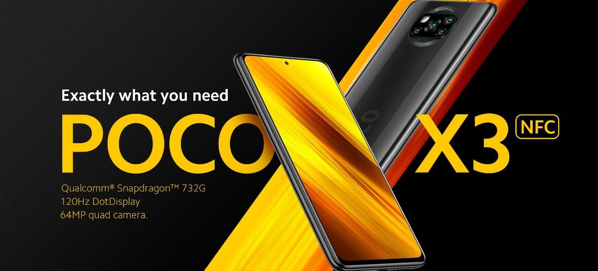 POCO X3 NFC com Snapdragon 732G, Tela 120Hz, Quad Câmera em promoção