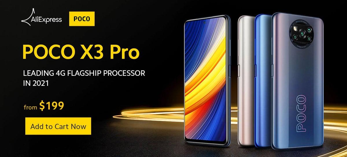 PROMOÇÃO: POCO X3 Pro 6GB+128GB será vendido por US$199 (R$1096)
