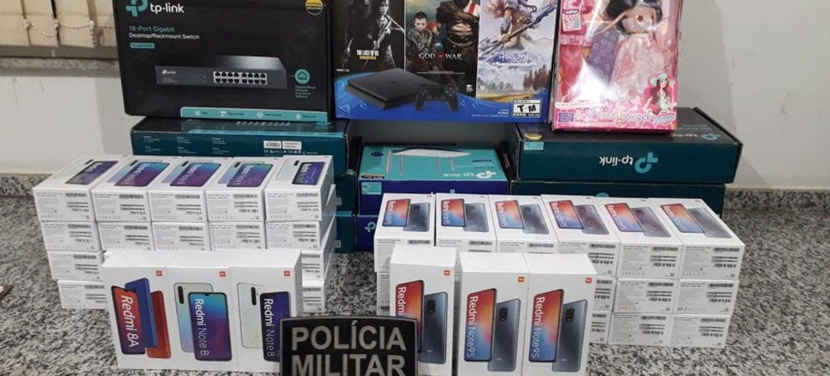 Polícia apreende R$ 440 mil em eletrônicos em barreira sanitária no MS