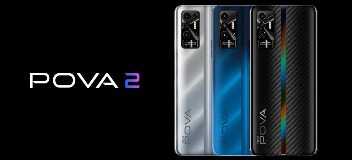 Smartphone Pova 2 da TECNO Mobile tem bateria de 7.000mAh por menos de R$ 800
