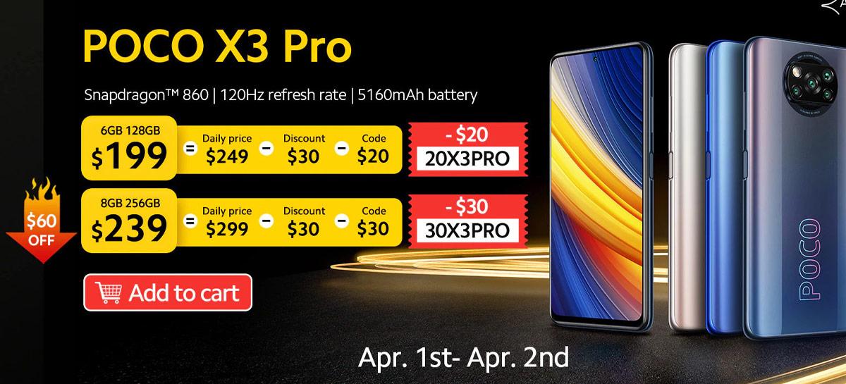 PROMOÇÃO: POCO X3 Pro com 6GB+128GB à venda por US$199 (R$1.150)