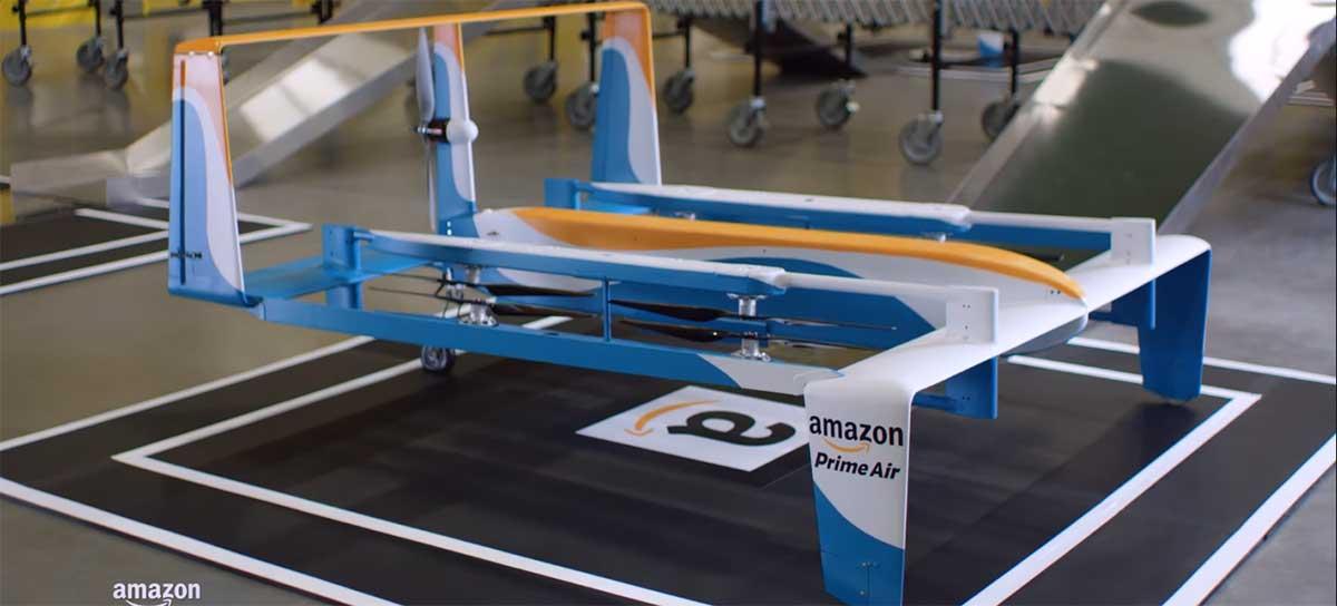 Amazon afasta diversos funcionários do projeto Prime Air de entrega por drones