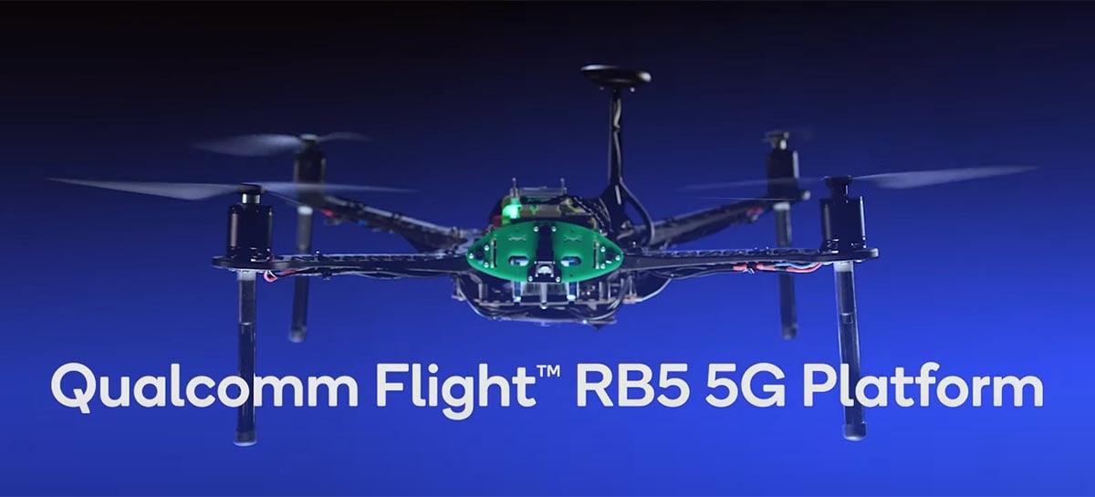 Primeiro drone 5G da Qualcomm tem Snapdragon 865 e grava vídeos em 8K