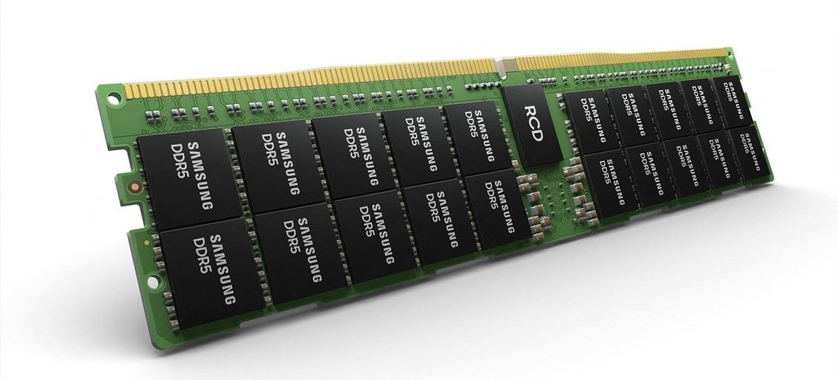 Primeiro módulo de memória RAM DDR5 com 512GB é feito pela Samsung