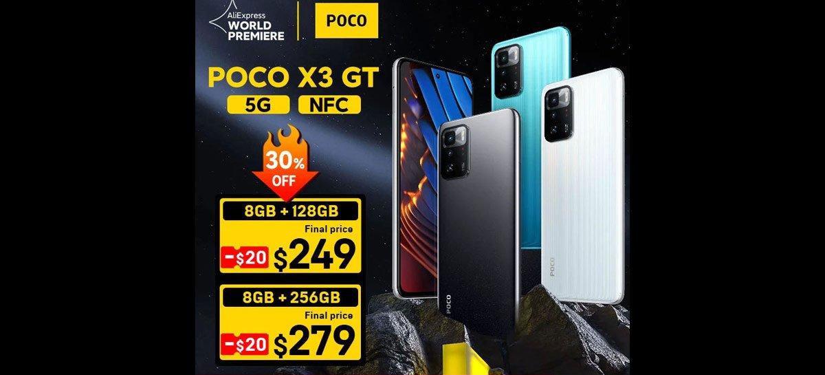 Xiaomi POCO X3 GT com 8GB+128GB, câmera de 64MP e 5.000 mAh está em PROMOÇÃO