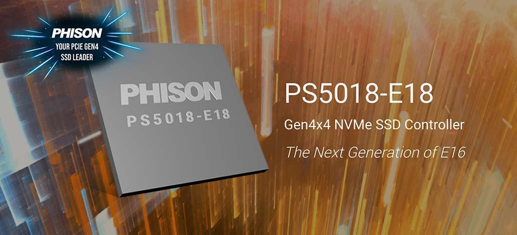 Controlador Phison PS5018-E18 permitirá SSDs com velocidades recorde