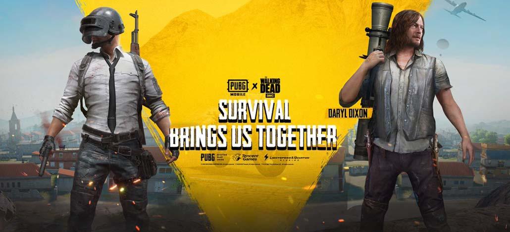 PUBG Mobile receberá personagens e equipamentos de The Walking Dead