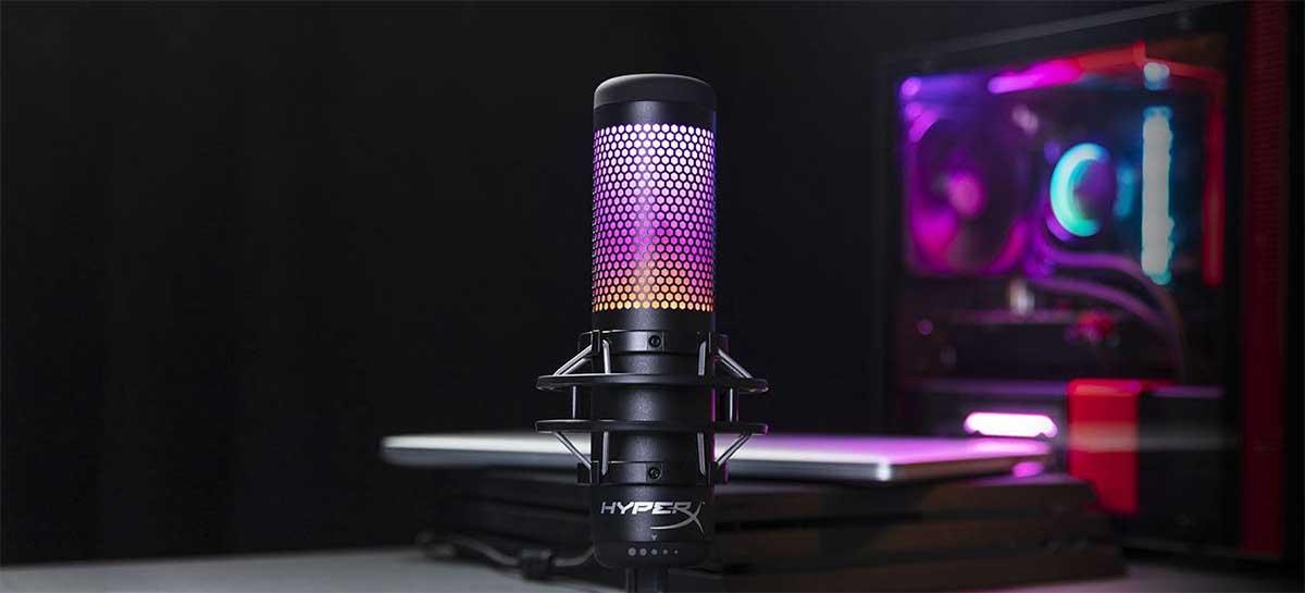 HyperX anuncia microfone profissional QuadCast S por R$ 1.599,90