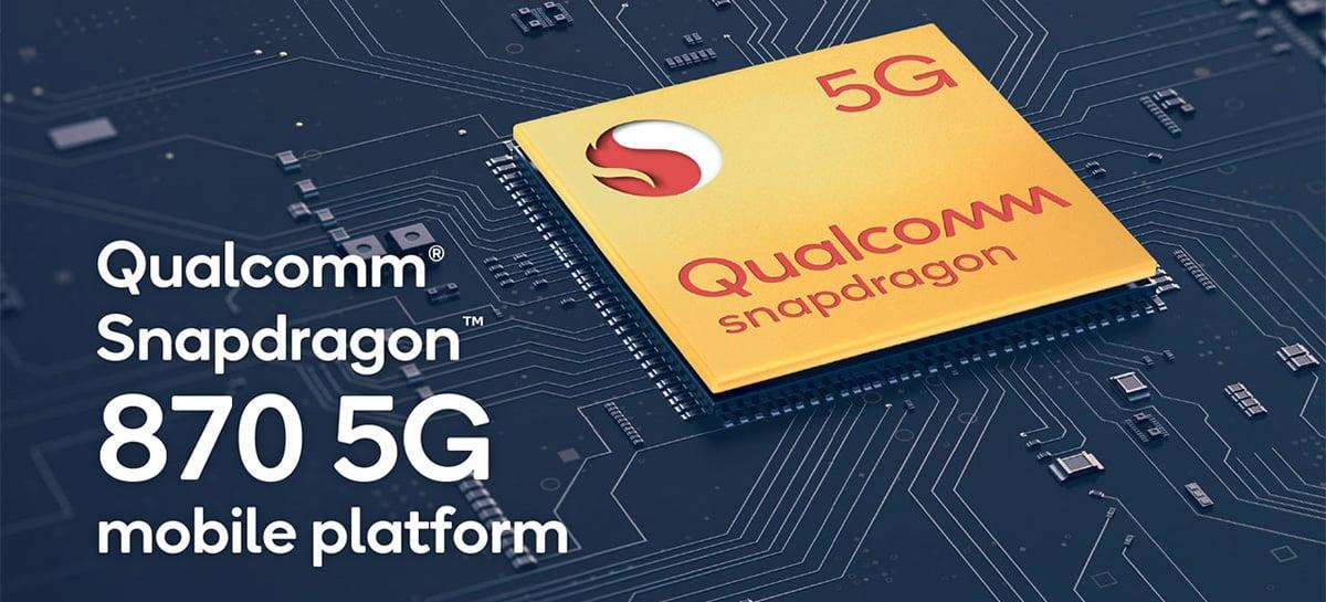 Qualcomm anuncia o Snapdragon 870 5G, seu mais novo chip para smartphones