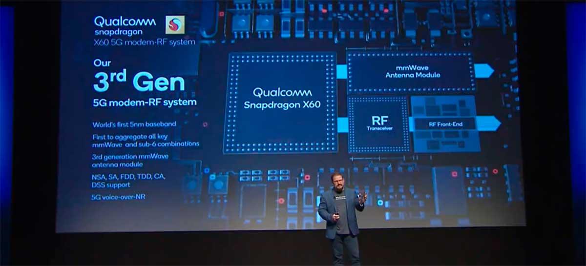 Modem X60 5G da Qualcomm deve vir no iPhone 12 superando 7 Gbps de download