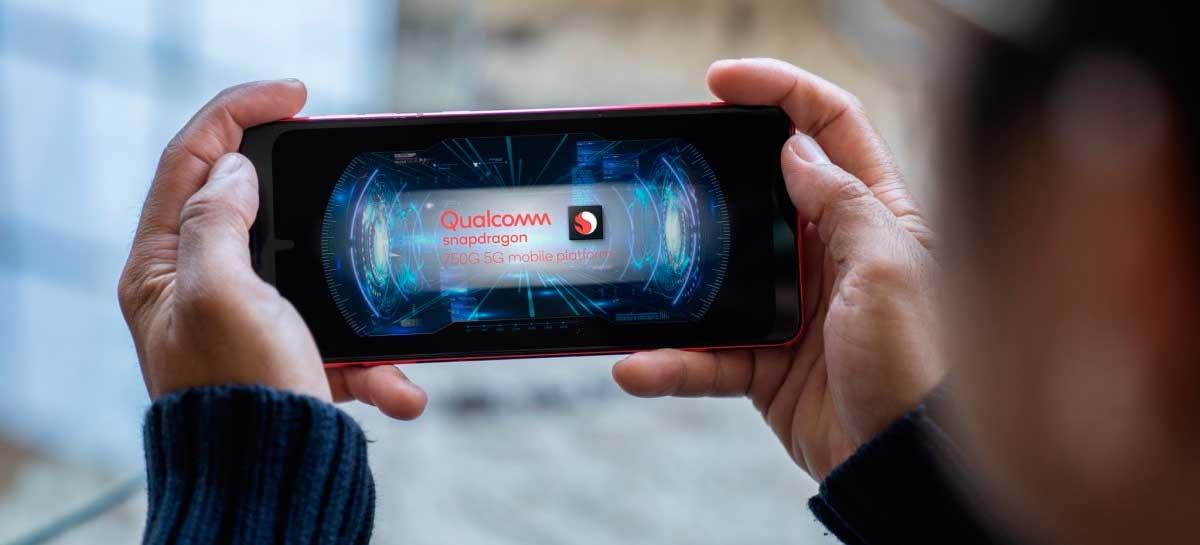 Qualcomm apresenta Snapdragon 750G com suporte mmWave 5G, IA para ruídos e mais