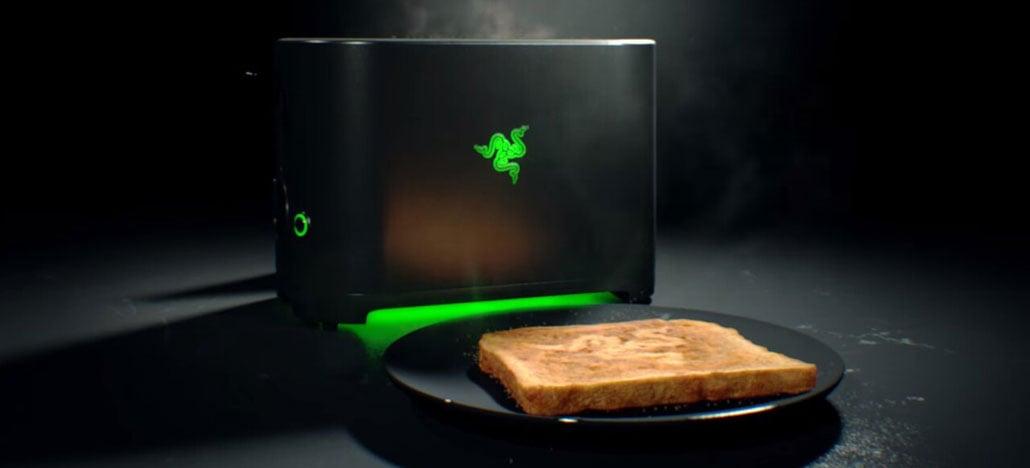 Marca gamer Razer anuncia que vai lançar uma torradeira, a Razer Toaster