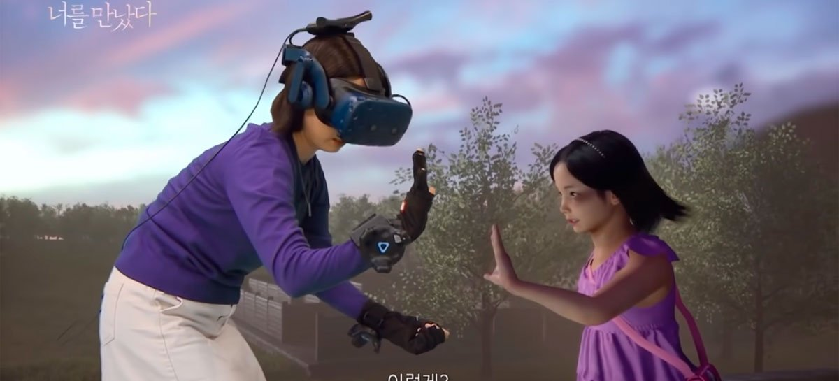 Video shows mother interacting with virtual version of her deceased daughter using VR
