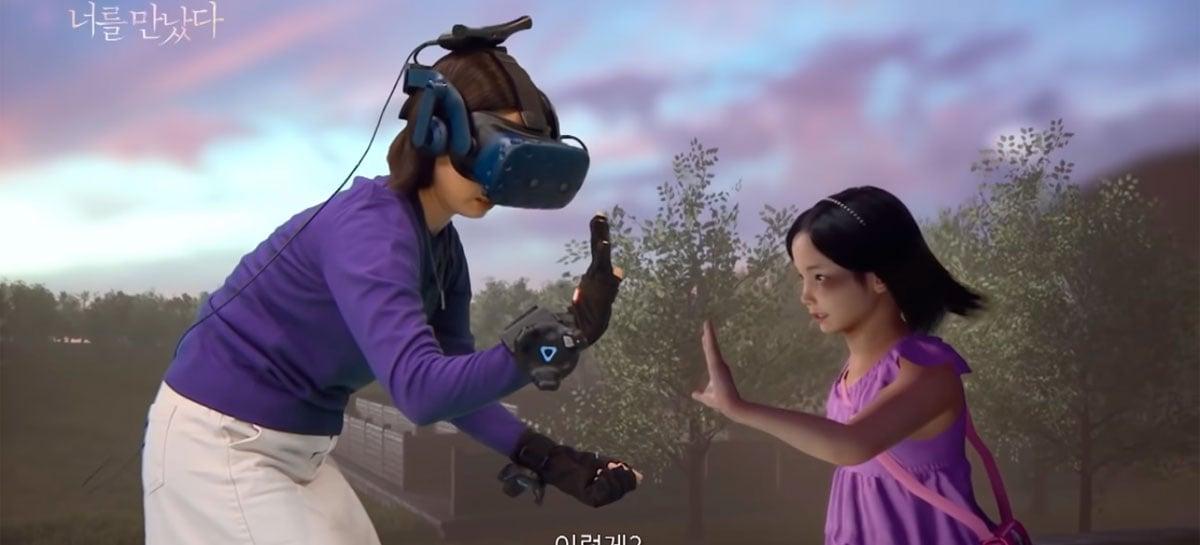 Vídeo mostra mãe interagindo com versão virtual de sua filha falecida usando VR