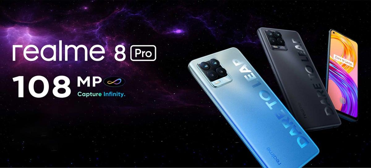 Realme 8 Pro é anunciado com câmera de 108MP e carregador de 65W