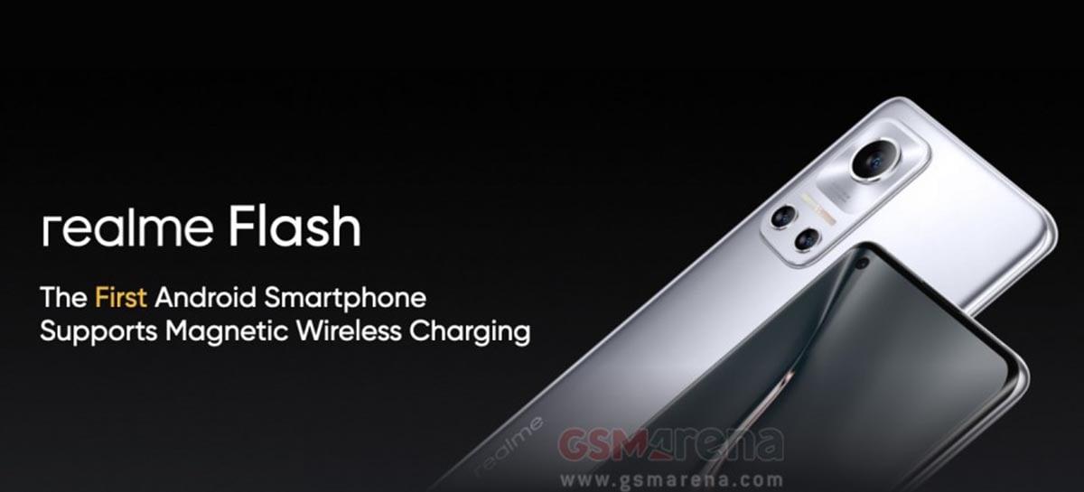 Realme Flash é o primeiro Android com carregamento magnético sem fio