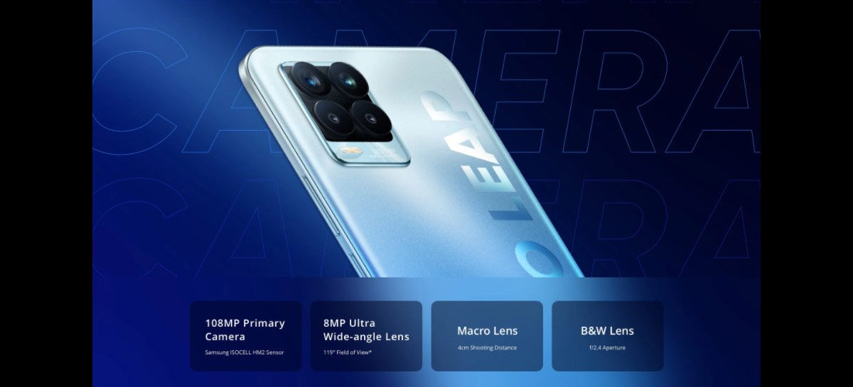 Recém lançado Realme 8 Pro com câmera de 108MP, 8GB+128GB e Snapdragon 720G por US$230