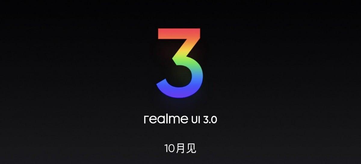 Realme UI 3.0 chega em outubro comemorando 6º posição no ranking de celulares