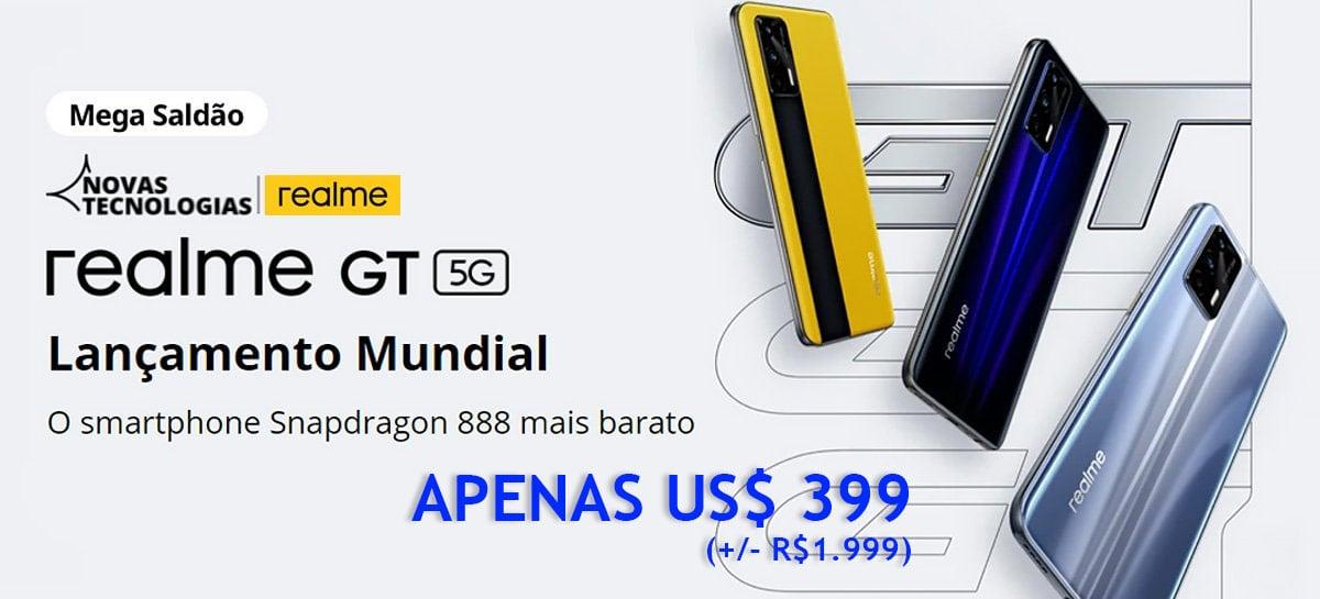 Realme GT é o Snapdragon 888 mais barato do mundo e está em PROMOÇÃO por US$399