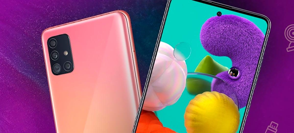 Atualização traz recursos do Galaxy S20 para smartphones Samsung Galaxy A51 e A71