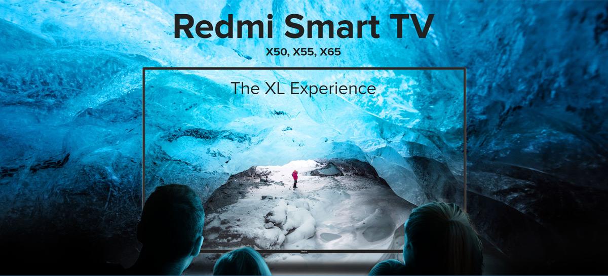Xiaomi lança Redmi Smart TV X65, X55 e X50 com resolução 4K e Android TV 10