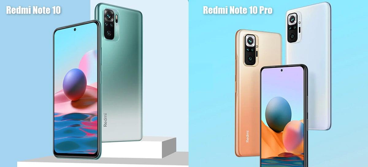Redmi Note 10 e Redmi Note 10 Pro à venda